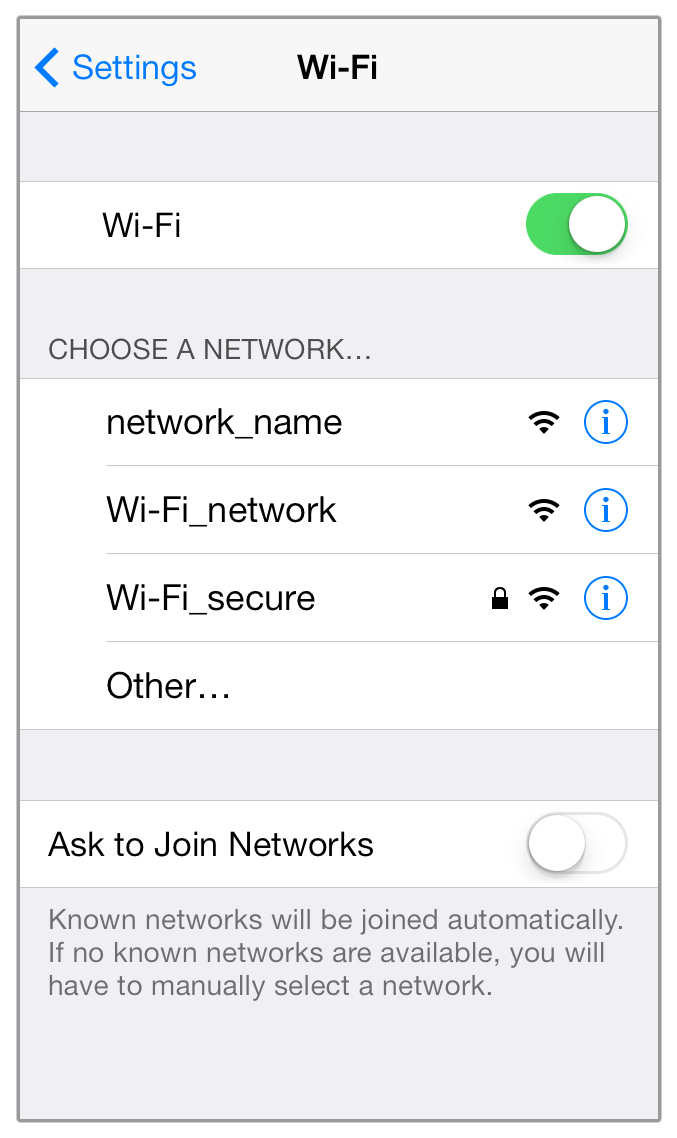 How to connect my iPhone, iPad, or iPod touch to a WiFi network