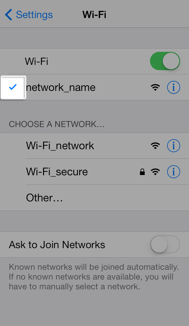 How to connect my iPhone, iPad, or iPod touch to a WiFi network image2